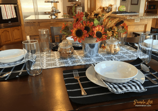 Dollar Store Thanksgiving Fall Table Scape