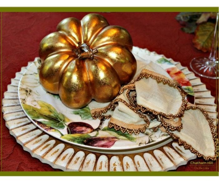 Fall Vignette - Shiny place setting