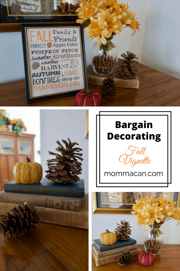 Lovely bargin decor for fall and an invitation to this week's link-up party and Fall Showcase