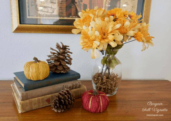fall beauty, bargain dollaw store vignette