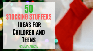 Grab this awesome list of 50 Christmas Stocking Stuffer Ideas For Children and Teens.