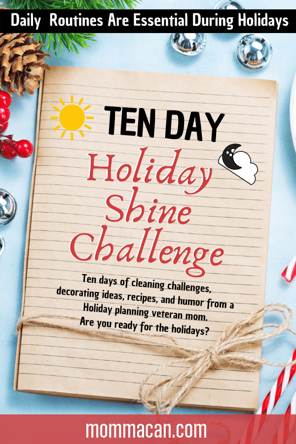 Daily Routines Are Essential During Holidays. Grab our free printables from and create solid daily routines to keep you sane during the holidays!