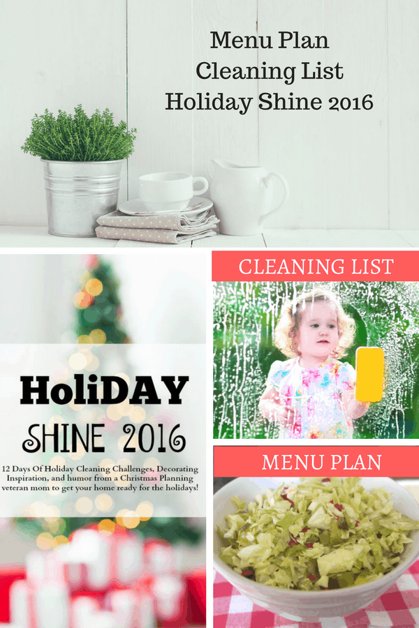 Menu Plan, Free Printables and Holiday Shine Update