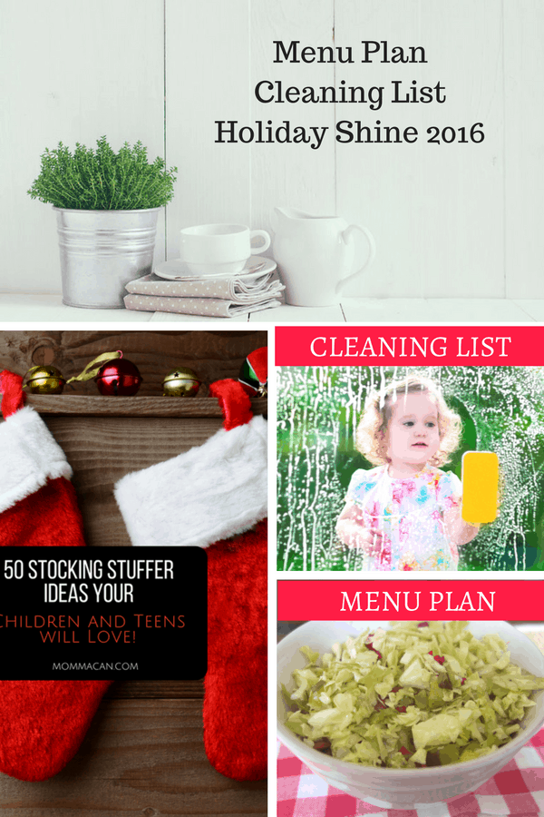 Menu Plan, Stocking Stuffers, and Holiday Shine