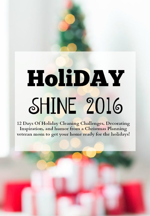 Holiday Shine Challenge  Clutter Crime