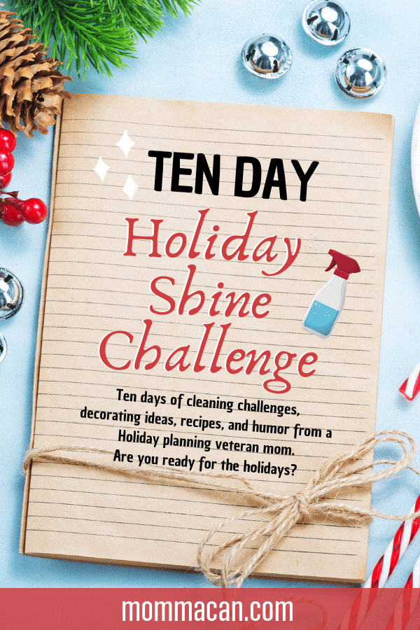 10 Day Holiday Shine Challenge, the best way to get your home ready for the busy holidays season! Get your home clean and shiny for Thanksgiving and Christmas!