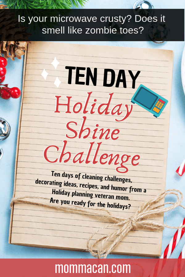 Now's the time to get your home ready for the holidays with my step-by-step simple cleaning challenge on what to do, how to organize and clean your home for Christmas. This is the microwave cleaning challenge and it is hilarious!