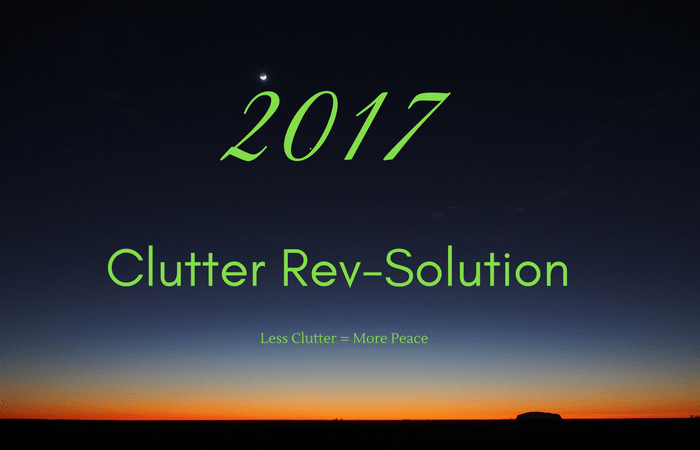 Get rid of clutter and find peace in the new year!