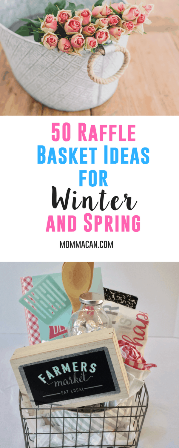 50 Raffle Basket Ideas for Winter and Spring - Grab this list of awesome raffle basket ideas perfect for Winter and Spring for gift giving or fundraising. #rafflebasket #giftbasket