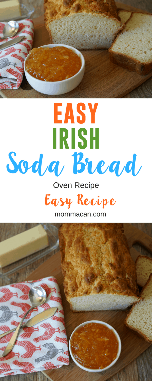 Easy Irish Soda Bread Recipe, perfect pairing for Irish Potato Soup or slathered with butter and marmalade as a breakfast treat. #Irish #Irishsodabread