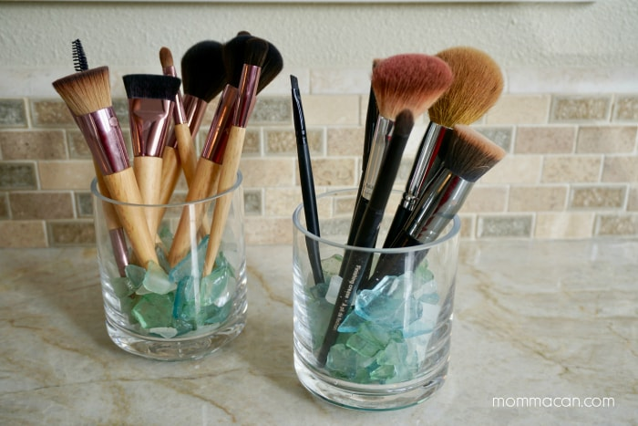 Make This Glass Makeup Brush Holder Momma Can
