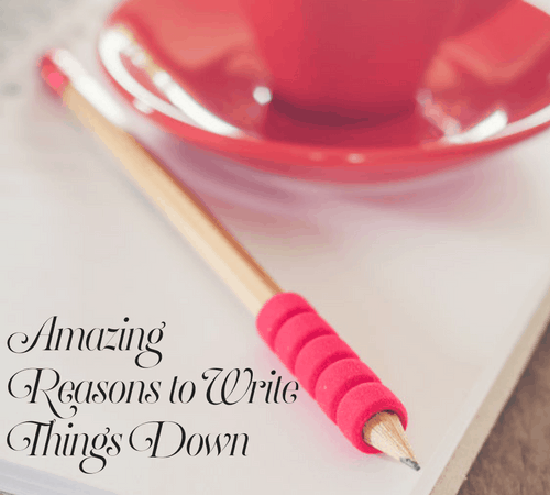 Busy Moms will love these tips on reason to write things down. You will learn to save time and money, and maybe help manage stress.