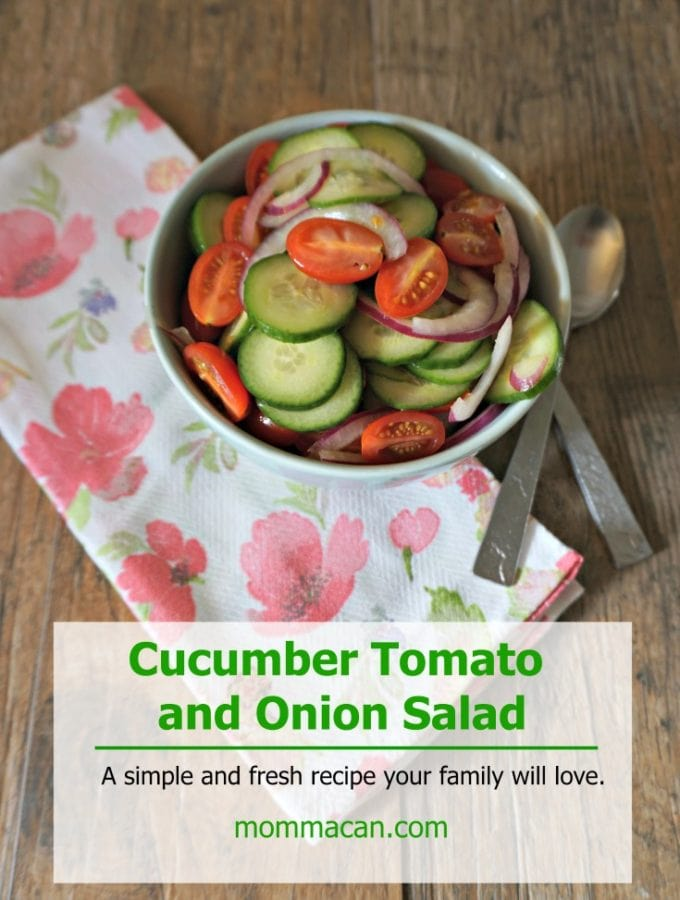 Try this quick simple cucumber tomato onion salad recipe for your next family gathering. It is a quick side dish and is so yummy!