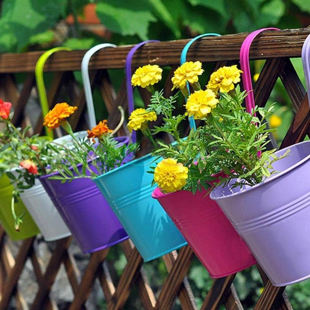 Colorful Hanging Flower Pots Momma Can