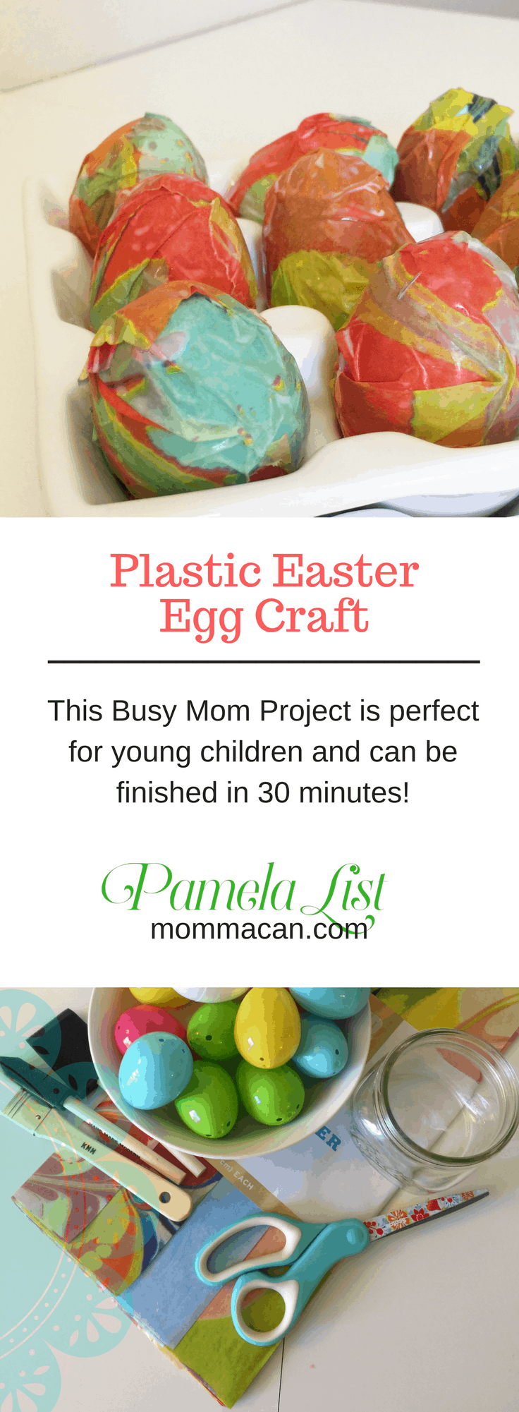 This Easter Egg Craft is made from items you probably have at home and can be completed in 30 minutes. Enjoy this craft with your school aged children and then display as an Easter Decoration.
