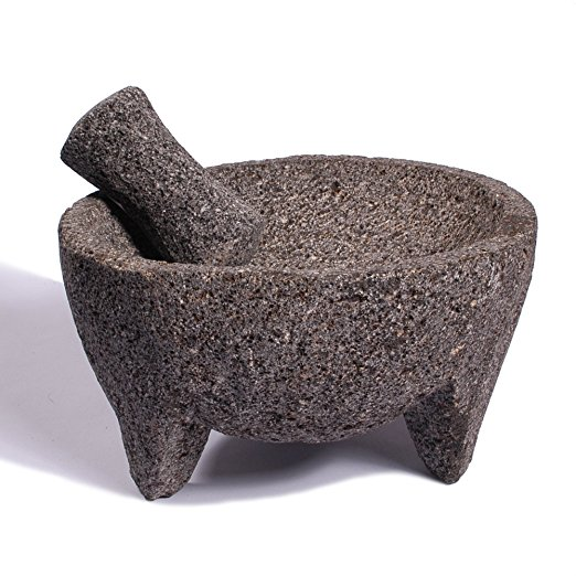 Lave Stone Molcajete for Salsa, Simple Restraurant Syle Salsa