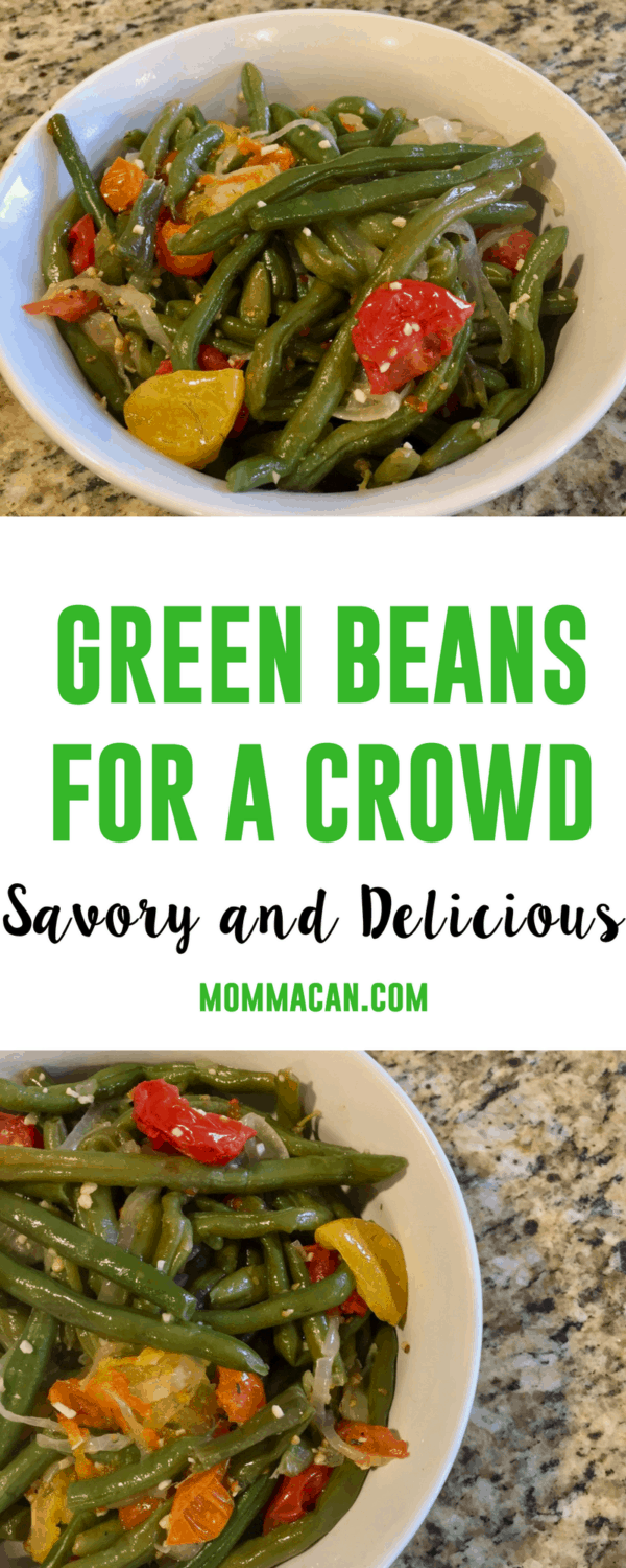 A must have green bean recipe. Savory and delicious this green bean recipe is easy to make and your will be proud to serve it to your guests.