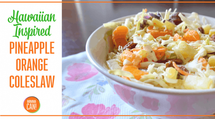 Hawaiian Inspired Pineapple Coleslaw Recipe