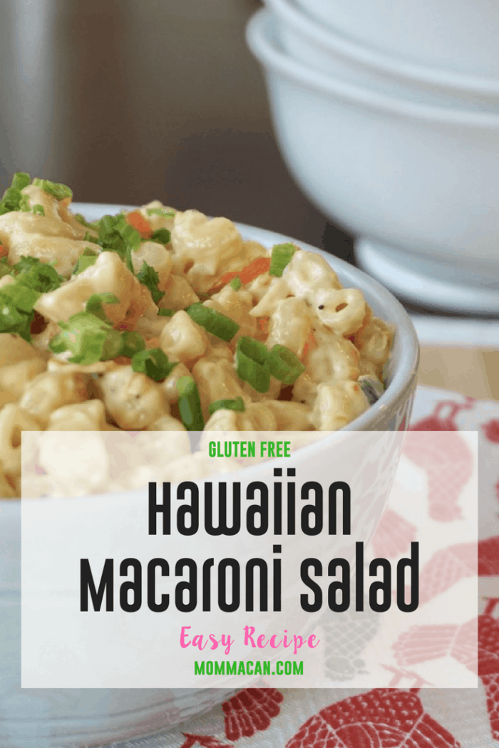 Grab this yummy Gluten Free Hawaiian Macaroni Salad, it is so darn good!
