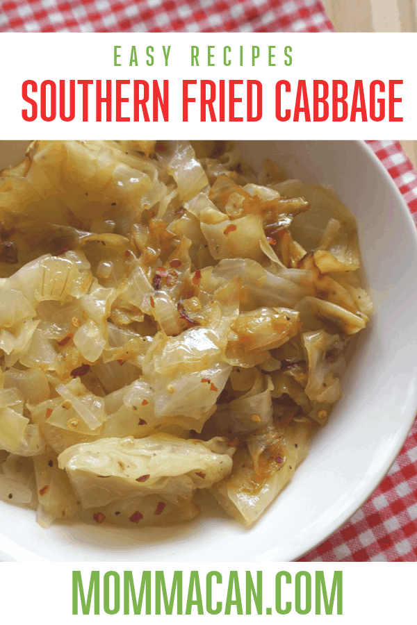 SOUTHERN FRIED CABBAGE WITH ONIONS