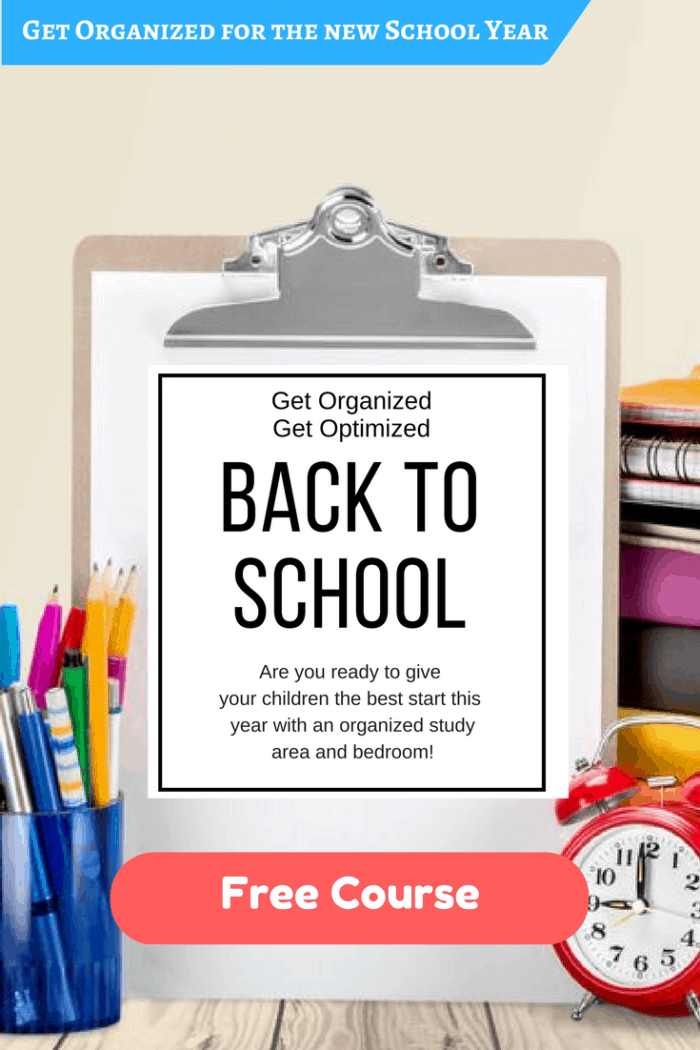 Get organized today for an awesome school year! Free E-course
