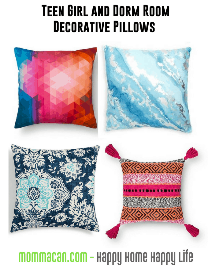Teen Girl and Dorm Room Decorative Pillows