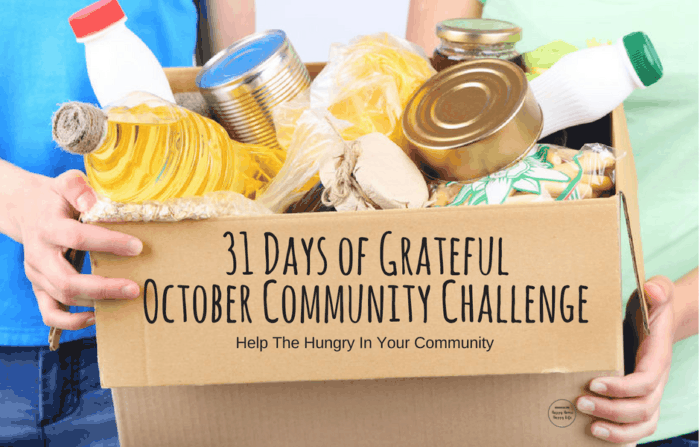 31 Days of Grateful October Community Challeng- Help Feed The Hungry