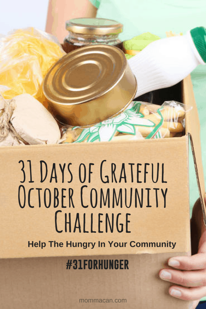 31 Days of Grateful October Community Challenge Help Feed The Hungry