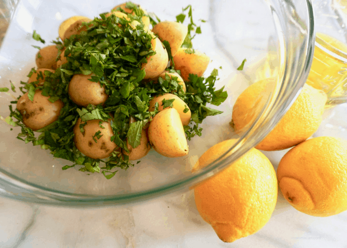 Delicious Lebanse Potato Salad