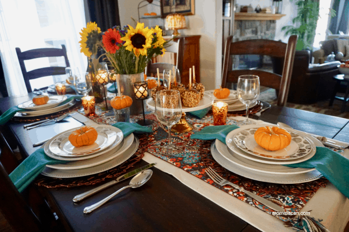 BOHO traditional fall tablescape