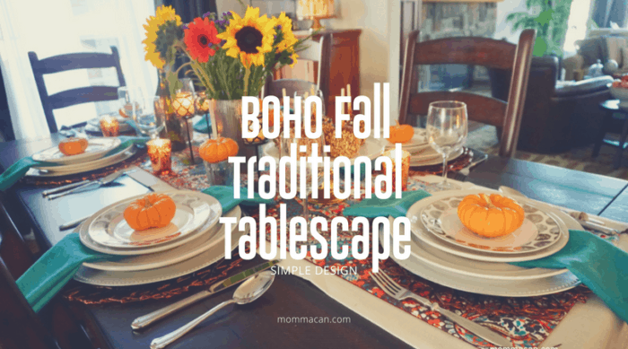 Colorful BoHo Fall Tablescape