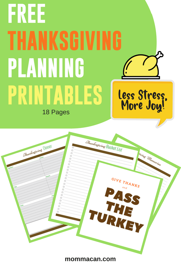 Planning a Thanksgiving dinner party or luncheon can be stressful. Using our Free printables pages including wonderful shopping lists you will prepare and be ready to enjoy this special day with your family. Happy Planning! #Thanksgiving, #Party #Printables #Shopping Lists #Free
