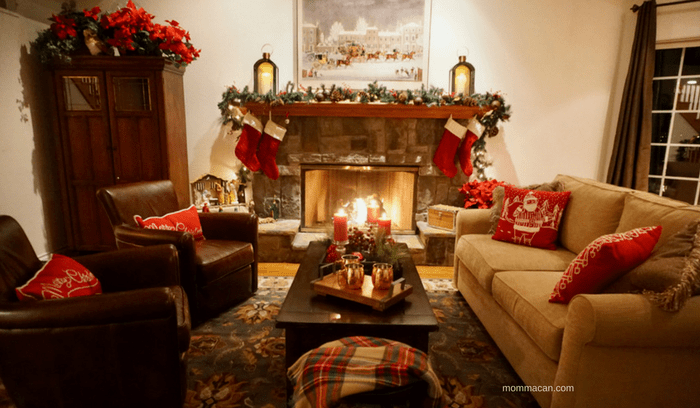 See Stunning Blogger Designed Holiday Homes Tour - Framed Canvas Christmas Print for Wayfair