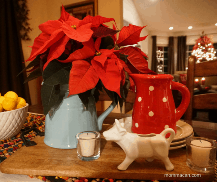 Poinsettias Tablescape - Stunning Blogger Design