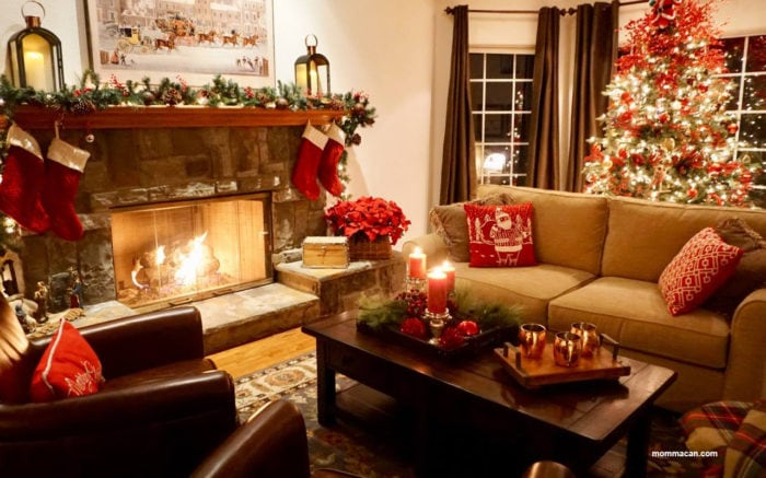 See Stunning Blogger Designed Holiday Homes Tour -Red FirePlace