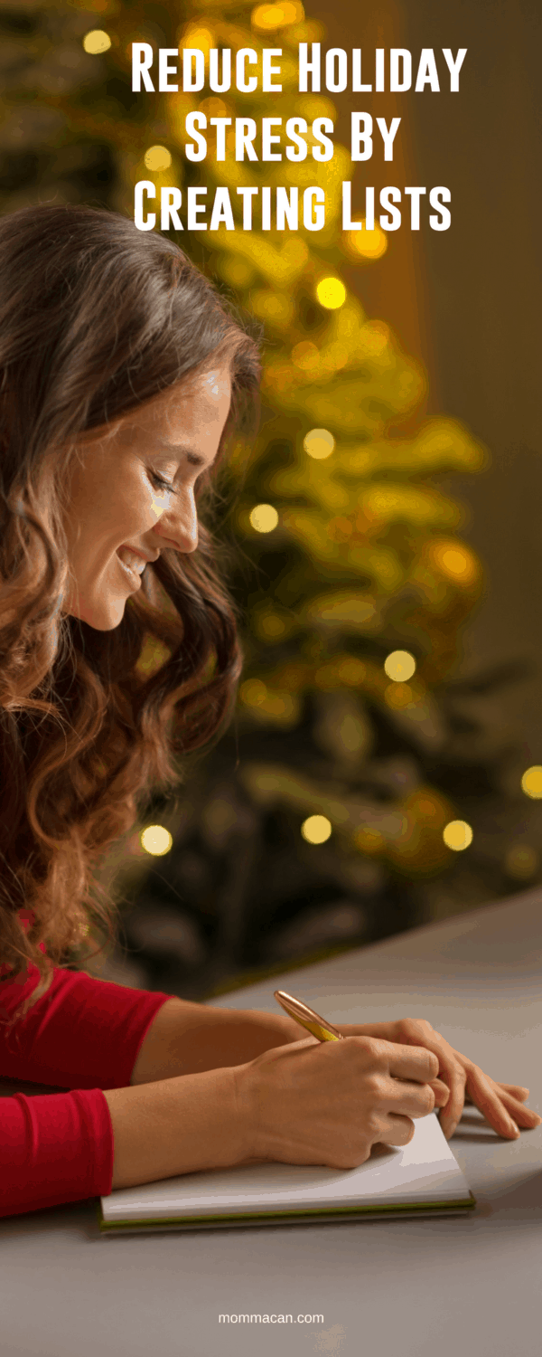 How To Reduce Holiday Stress By Creating Lists #holidaystress #Christmas #mom