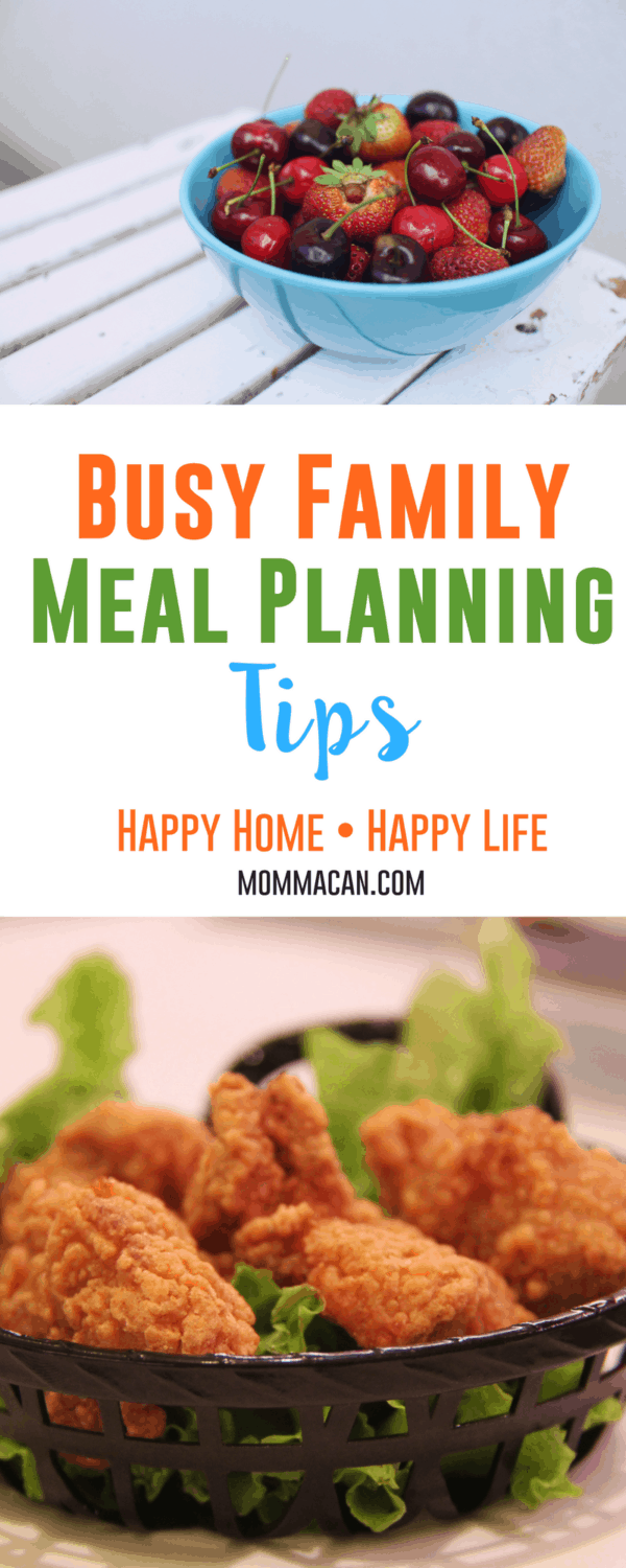 Busy Family Meal Planning Tips Meal planning is wonderful but planning for chaos days is essential in your meal planning strategy.