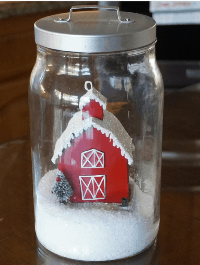 How To Make Winter Snow Globes With Ikea Jars