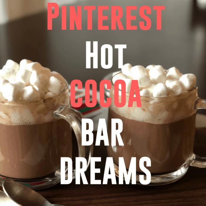 Simple White Winter Theme Hot Cocoa Bar