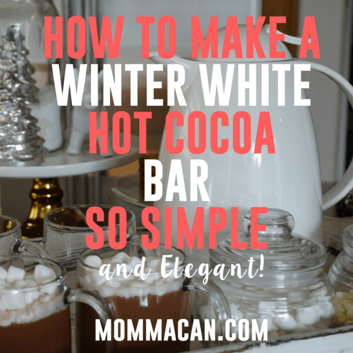 How to Make A Simple White Winter Theme Hot Cocoa Bar