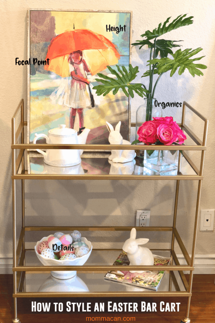 How to Style an Easter Bar Cart