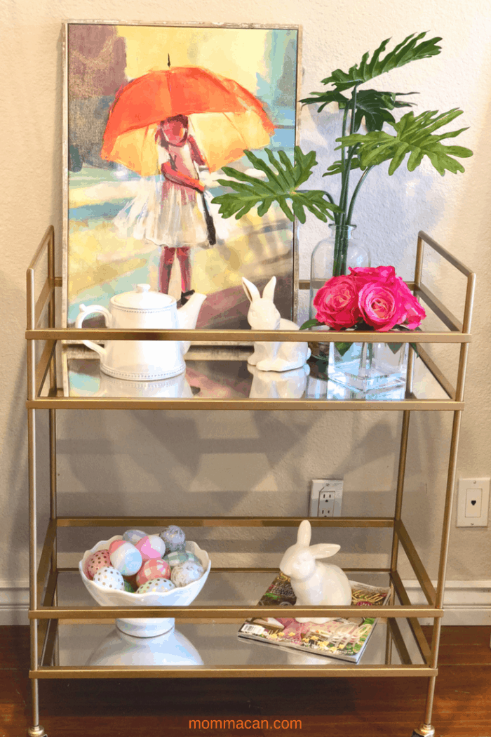 How To Style and Easter Bar Cart