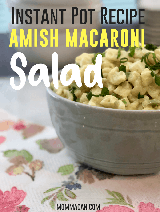 Instant Pot Amish Macaroni Salad, the perfect quick summer recipe. Creamy and delcious Amish Macorni Salad | MommaCan