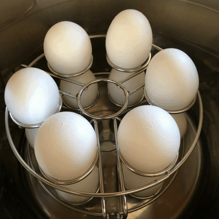 The Stackable Egg Steamer for perfect hard boiled eggs.