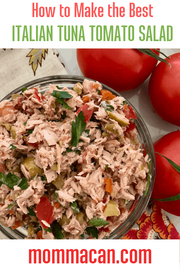 Italian Tuna Salad Recipe No Mayonnaise, the perfect tuna salad!