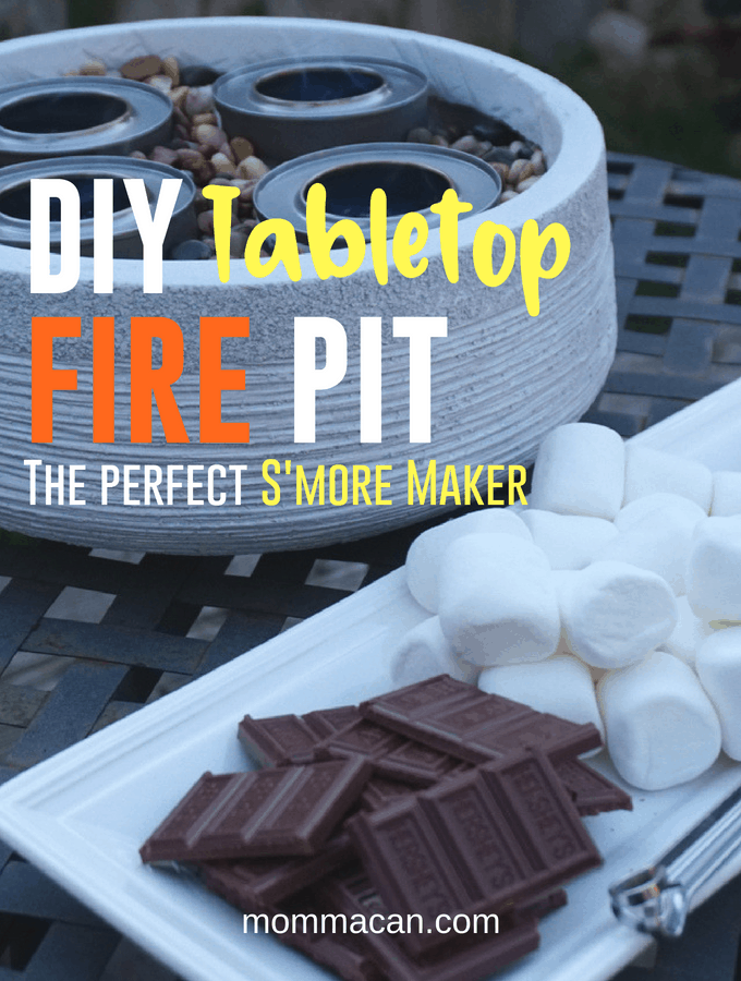 DIY Outdoor Tabletop Fire Pit S'more Maker