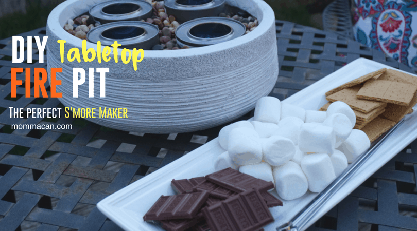 Make The Best Darn Su0027mores With This Awesome DIY Tabletop Fire Pit |  Mommacan