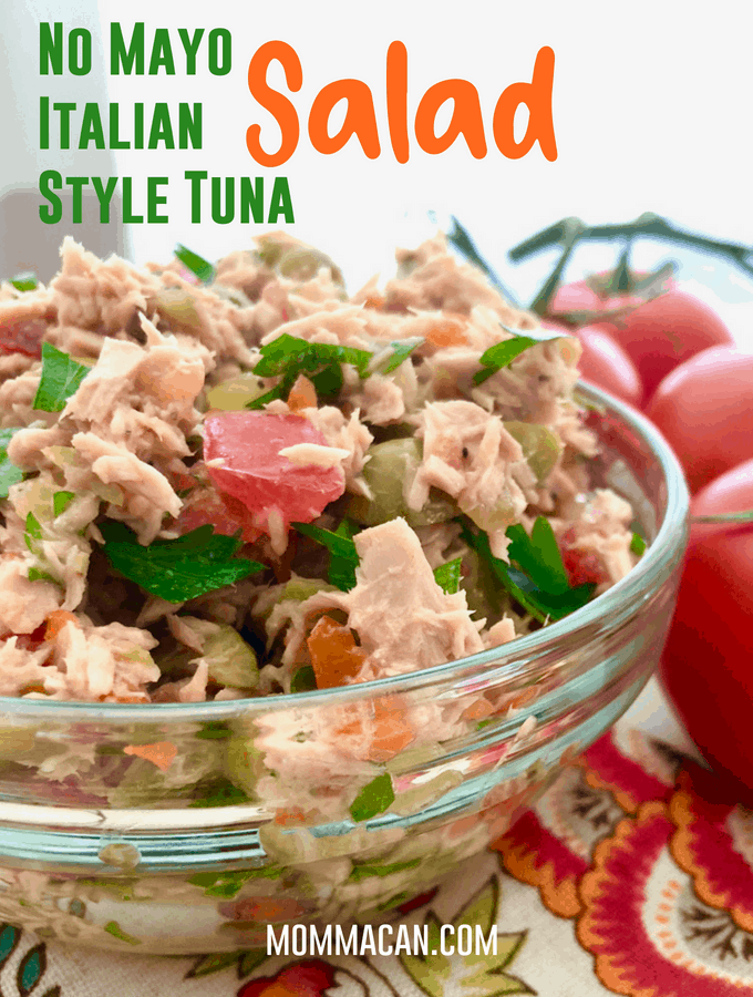 Italian Style Tuna Salad No Mayo Recipe