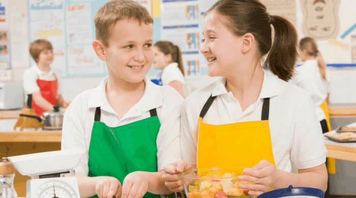 Middle School Children Should Learn To Cook SImple Meals
