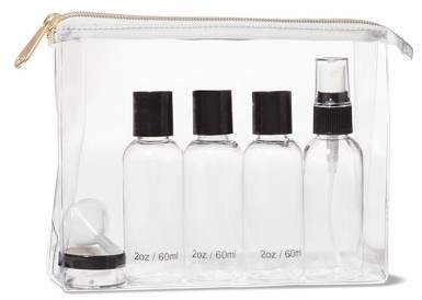 Clear Vinyl Cosmetic Travel Bag from Target | perfect for airlines